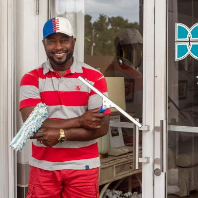 Bertin Bolivard, owner, Window Cleaning and More